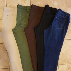 Faded Glory Pants - 5 For 1 Bundle! Faded Glory Stretch Leggings